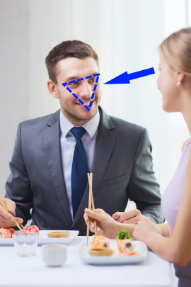 Blickkontakt mann flirten