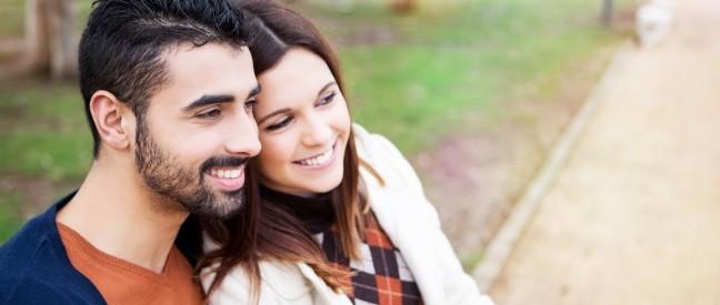 Mann und Frau beim dritten Date