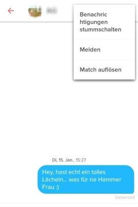 Match nachrichten tinder weg auflösen Tinder nachrichten