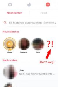 Tinder-Match weg: Tue das, wenn der Kontakt verschwunden ist!