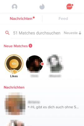 Likes ohne Tinder Gold angezeigt
