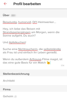 Profil-Ideen für Online-Dating